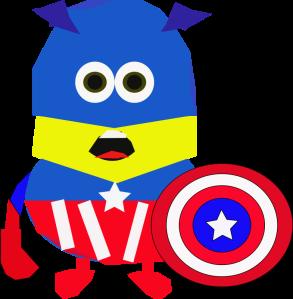 Imaged of caped cartoon